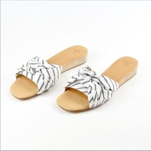 Joie Black and White sandals